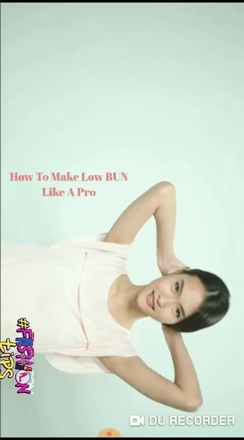 Easy #lowbunhairstyle like a Pro 😀  #lowbun #hair-dos #hairstyle #hairfashion #hairbun #hairtutorial