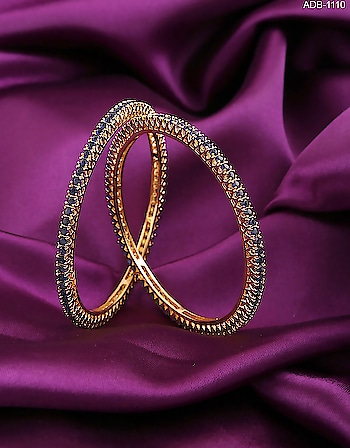 Anuradha Art Jewellery offers beautiful collection of American Diamond Bangles in classic look. You will range of ethnic bangles in 2/2, 2/4, 2/6, 2/8 and 2/10 size. To see more designs click on this link: http://bit.ly/2FCcwDV #bangles #americandiamondbangles #banglebracelets #goldchudiyan #chudiyan #diamondbangle #kangan #diamondkangan #banglesset #banglesforwomens #designerbangles #artificialbangles #imitationjewellery #chura #chuda #adbangles #adjewellery #diamondjewellery
