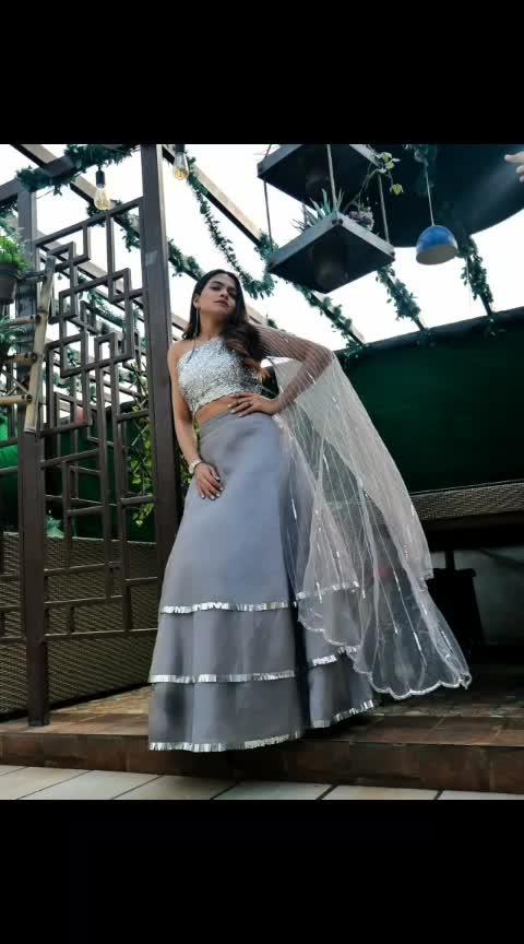 #indianwedding #ethnicwear #designer #indianfashionblogger #indiandesigner #grey #croptopskirt #weddings #wedding #look #location #photography #just #caption #newyear #flyrobe #collaboration #fashionblogger #aashimalamba #thebasicrebel