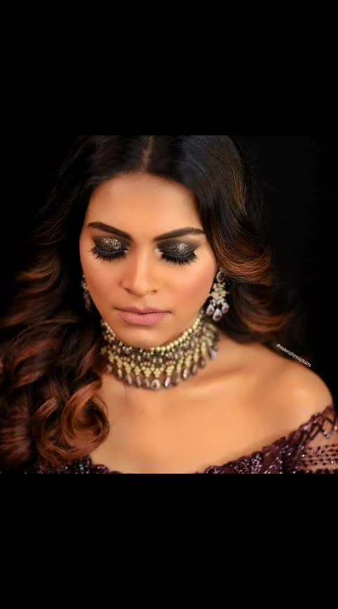 #makeup #mua #makeupartist #smokeyeye #smokeyeyes #makeupparty #wedding #weddings #face #contouring #eyebrows #eyemakeup #eyeshadow #eyelashes #lashes #glittereyeshadow #nudelips #post #beauty #aashimalamba #thebasicrebel