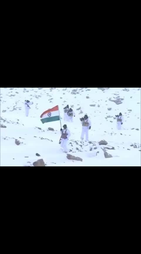 SALUTE !   #Himveers of #ITBP in #Himalayas in -30 degrees at 18K ft.   Credit: @ITBP_official
