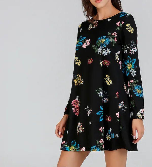 Flower Tunic Mini Dress  Website Link-https://bit.ly/2s0E3VR . . . . #dress #dresses #minidress #maxidress #mididress #floral #floraldress #partydress #black  #womensdresses #westerndresses #designer #party  #streetstyle #stylish #partyoutfit #clothes #girls #pretty #fashionista #fashion #women #womenswear #outfitpost #mumbai #india #bollywood #womensfashion