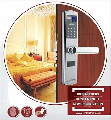 Evotech Residential & Commercial Wooden Door Handle Digital Security Lock |Touch Screen Smart Electronic Digital Door Lock- ETD41  Evotech Offer a wide selection of top quality digital locks as well as professional installation and after-sales services, our technicians are real craftsmen, passionate about making your office/home space safe and secure. Evotech Located in New Delhi focus on digital lacks for hotels, resorts, schools, hospital, banks, residential areas, Gyms, and other facilities worldwide. Our Locks are specially designed for convenient and secure use by our customers by fingerprint/touch id or by simply entering user password or swipe RFID card to open the lock (Depending upon the different range of models provided by EVOTECH).  Link : https://www.amazon.in/dp/B07KQ6TGZ1?ref=myi_title_dp
