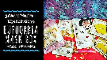 Euphorbia Mask Box @299 | Discount | Free Shipping | Unboxing & Review  The season in which we need sheet Masks the most is undoubtedly -  Winters! Our skin is dry and its essential to provide that extra boost of hydration and nourishment. Especially if you are someone who uses makeup frequently or have a special occasion to get ready for - sheet mask before makeup is a must to avoid any kind of caking or flaking issues. I have stocked up with this super affordable Sheet Mask edition by Euphorbia Box priced at just Rs. 299 including shipping. It contains 5 masks and a lipstick of total worth around almost Rs. 1500! I felt its a steal deal! . . . Checkout the review on my channel to know more! Link in bio💕 . . To order the box : https://euphorbiabox.com Instagram DM : https://www.instagram.com/euphorbiabox/ Price : Rs. 299 including shipping (after discount) Discount Code : MASK51 . . . #euphorbiabox #euphorbiasheetmaskbox #Masks  #maskedition #sheetMasks #mondsub  #monthlysubscription  #beautysubscription #skincare  #honestreviews #monthlysubscription #unboxingandreview #youtuber #subscriptionreviews #subscriptionboxindia #subscriptionboxreview #sonammahapatra
