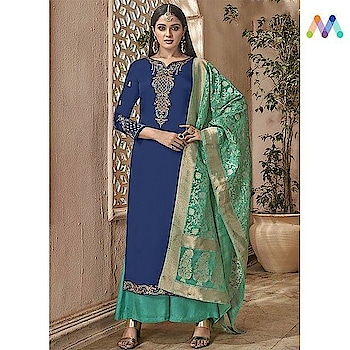 Get a royal touch to your wardrobe with this stunning straight cut suit. Grab this @https://goo.gl/5KZHzo  Apply Code NEWYEAR10 to get extra 10% Discount on all orders above $99 and 15% discount on all orders above $199 using code NEWYEAR15 PRICE : INR 2970| $44USD  #newarrivals #shoponline #newyear #partywear #embroidered #straightcut #banarasidupatta #sneakpeek #newlaunch #newyearsale #2k19 #indianfashion #USA #India #Canada #Australia #Dubai #UAE #Mauritius #London #Uk #shopnow