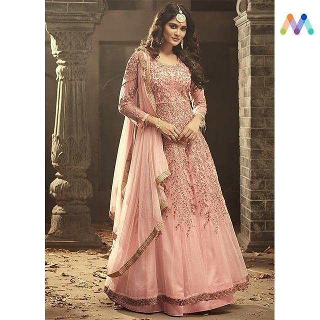 Be warm and stylish in this lovely #pink anarkali suit. Grab this @https://goo.gl/y1iwwu  Apply Code NEWYEAR10 to get extra 10% Discount on all orders above $99 and 15% discount on all orders above $199 using code NEWYEAR15 PRICE : INR 5849| $86USD  #newarrivals #shoponline #newyear #partywear #embroidered #straightcut #banarasidupatta #sneakpeek #newlaunch #brandheroine #newyearsale #2k19 #indianfashion #USA #India #Canada #Australia #Dubai #UAE #Mauritius #London #Uk #shopnow