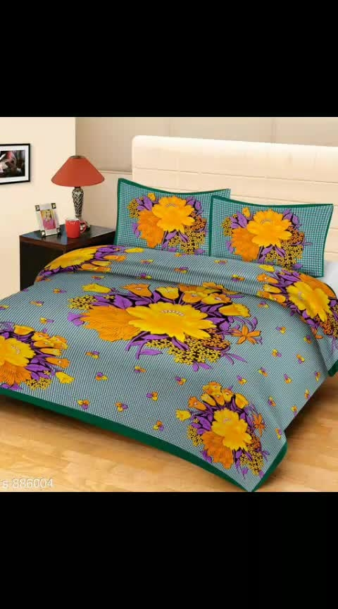 Royal Cotton Digital Printed Double Bedsheet Vol 9  Fabric: Bedsheet - Cotton, Pillow Covers - Cotton  Dimension: ( L X W ) - Bedsheet - 90 in x 100 in, Pillow Cover - 17 in x 27 in Description: It Has 1 Piece Of Double Bedsheet with 2 Pieces Of Pillow Covers Work: Printed Thread Count: 160  Dispatch: 2 - 3 Days