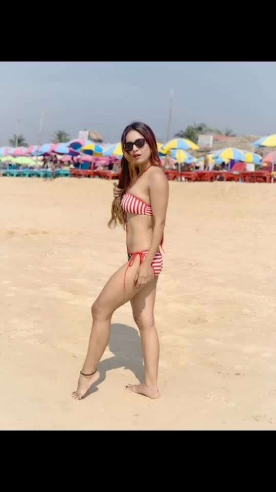 Happiness is Sun , Sand and Sea 🌴🌴🌊🏖🏖 : #goa #beachday #sunshine #sand in #toes #sunkissedhair #saltyhair #beachgirl #sealove #sealover #beauty #beachbody #beachbabes #sea #bikinigirl #hotnessoverload #goa #travelwithme #newyearnewme #newyear2019 #boldandbeautiful #travelblogger #travelandleisure #nehamalik #model #actor #diva #blogger #instagood #instafollow