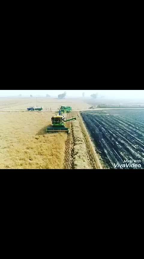 #dontworrybehappy #zimidar #jattlife #rops-star #combine #machine #tractor