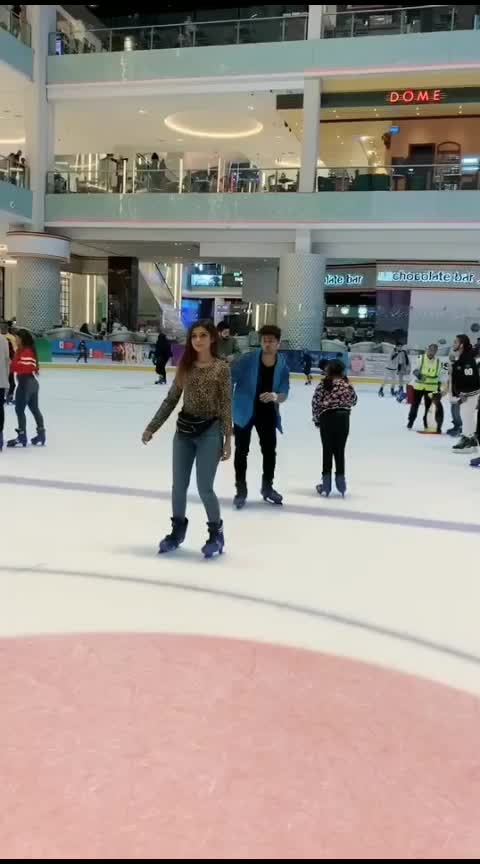 LejaRe at the DubaiIceRink w/@nagmaa Nawez ❤️ 2019makeawish Dubai couplegoals