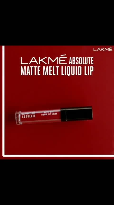 Your lips are in luck! The Lakmé Absolute Matte Melt Liquid Lip Colour is pure indulgence! Which one will you pick?  Available in 8 stunning shades.  Price: Rs. 750/- #Lakme #LakmeIndia #Matte #LiquidMatte #Lipstick #Makeup #Beauty #BoldLip