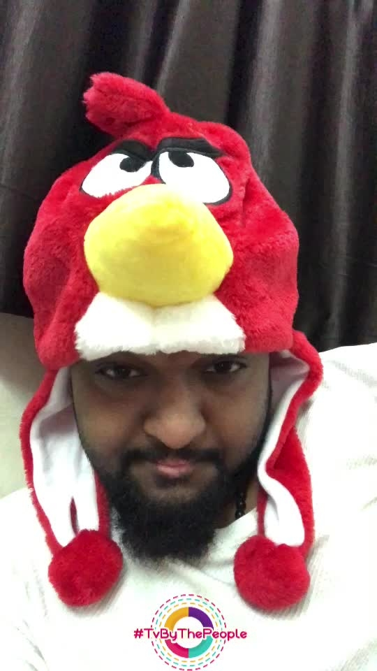 Angry bird cap for winter.... hahaha make it happen  #kallijotta #31kfans #loveyousomuch #hahatv #roposotv #roposo-pic #tvbythepeople