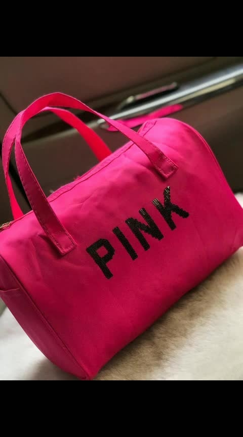 VICTORIA SECRET  PINK DUFFLE BAG Awesome Quality size 12 by 8 inch  For Daily Updates Join Group  https://chat.whatsapp.com/LvwhRq2lIzf6e8wArpu5ee  #dufflebag #victoriassecret #awesomecollection #color-pop #nicelook