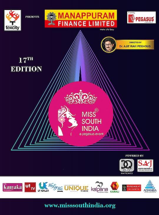 17th edition of Miss South India  #MissSouthIndia #PegasusGlobal #DrAjitRaviPegasus #MSI #Pageant #PegasusEvent #ManappuramFinanceLtd