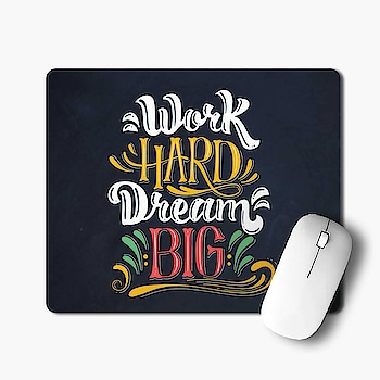 """ Work Hard Dream Big ""Motivational Mouse pad @ Rs.200/- 😍 👉 Cash On Delivery Available 👉 Free Shipping  ✅ Pay with Paytm or Google Pay +91-9867002820 #WorkHardDreamsBig #Motivational ##quotesprinted #Mousepad #RubberMousePad #giftideas #gift #giftforfriend #customizegift #OffersKraft #businessowner #CorporateGifting #design #smallbusinessowner #artworks #womeninbusiness #officeessential #ShopOnline #BuyOnline #onlineshopping"