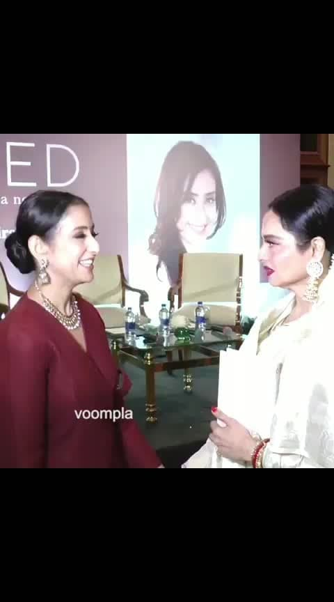 Awwww moments like these 🤗🤗 Rekha and Manisha Koirala's supes cute posing sesh! Scenes from yesterday when Manisha Koirala launched a book about her battle with cancer 🙏   #bollywood  #rekha  #rekhaji  #manishakoirala  #manisha  #bollywoodstyle  #bollywoodfashion  #mumbaidiaries  #delhidiaries  #indianlook  #indianactress  #bollywoodactress  #bollywoodactresses #love