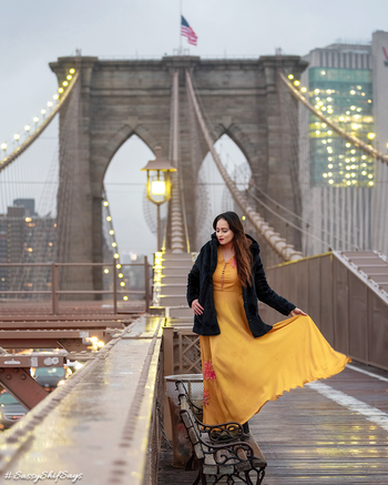 Forever stuck in #NewYork state of mind!⭐️😋 Okay, so this picture has a small story behind it. We planned an early dinner this evening at @ladureeus & after waiting for the perfect weather to hop on to #BrooklynBridge (due to the crazy January snowy weather) our plans were still cancelled last minute. But a meeting took us right there, despite the combination of snow + cold showers on repeat, not to mention the winds. But since our meeting was just a block away, we told ourselves, this has to be THE SIGN & we are meant to brace ourselves & face it. And guess what, out of the million times we have been on the Brooklyn Bridge, this was the ONLY TIME where we literally had the entire bridge empty for ourselves!!! Guess no one wanted to dare to step out except we two!! But boy am I happy about this perfectly romantic #Bollywood setting in #Pardes o what!!! I even made Salman take off his jacket for another pic. 😂😂😂 But after this, we headed straight for some hot coffee-chai & stood under a heater for 30 mins straight.   Link - https://www.instagram.com/p/BsYH6xtn7Je/