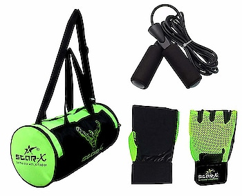 Star X Home Gym Exercise Set of Floro-bar-1010 Nylon-Mesh Gym Bag with Gym Gloves and Skipping Rope   Long lasting Gym bag Material: Nylon-mesh In-Box Contents: 1 Gym Bag, 1 Leather Gym Gloves, 1 Skipping Rope   Buy Now :- https://amzn.to/2F7JxH9  #dumbbell #dumbbells #gymbag #gymbags #gymaccessories #accessoriesforgym #gymcombo #gymbottle #gymdumbbell  #gloves #gymgloves #glovesforgym #rope #skippingrope