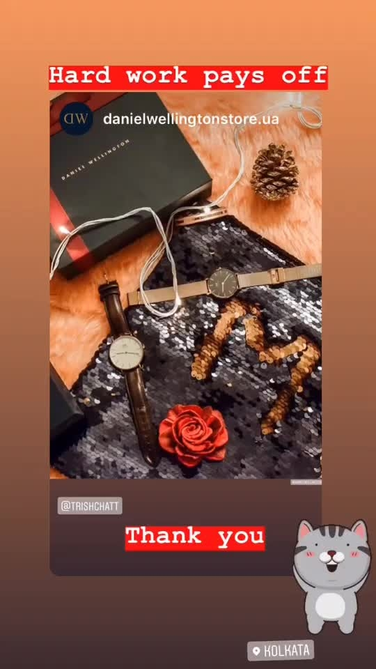 """Enter this new year with a gratitude for this new chance to create your dreams. &  This #newyear and my favourite watches & accessories brand @danielwellington still offers 10% off on purchase of two or more products. To make this even better, you can use my code""""TRICHCHATT"""" to avail an additional 15% discount. . . #DanielWellington #DW #DWIndia #dwforeveryone . . . . . . . . #fashonictrishaa #globalinfluencer #influencer #accessories #photooftheday #watch #rosegold #winter #2019goals #contentcreator #indianinfluencer #kolkatablogger #womensfashion #girlswholift #polishgirl #transformationtuesday #girlsgeneration"""