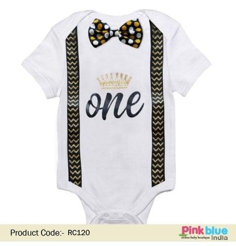 Boy's 1st First Birthday Romper - Boy Cake Smash 'one' Outfit Contact :+918000011699 Shop Now : https://www.pinkblueindia.com/first-birthday-romper.html  #babyboy #romper #babyromper #onesie #babyonesie #firstbirthdayonesie #firstbirthdayoutfit #babyoutfit #firstbirthday #birthdayonesie #bowtiesuit #birthdayshirt #firstbirthdayphotoshoot #cakesmashoutfit #newbornbaby #pinkblueindia
