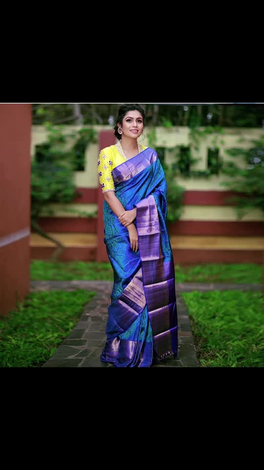 Wear bright colors & be your own kind of beautiful. . . Royal blue Tanchoi weave silk saree  Saree search code : 202409 . . The royal blue body of the silk saree is adorned by eye catching Tanchoi weaves. Surrounding the body is royal blue Kanjivaram golden zari border. The pallu also takes a royal blue shade and rich zari is spread across its length. A candy-pink jacquard blouse comes along with the saree. . . Credits With muse: @sonugowda  Photography: @ashwinthclicker  Jewellery: @pradejewels Blouses: @avani_designstudio  Make up: @makeoverwithlakshmi_shetty  Hairstyle and draping: @tejaswini1977  Location: @goldcoinsclub . . #Malaysia  #London #UK  #Australia #SriLanka #Singapore #usaindians #ukindians #malaysiaindians  #indiantraditionalwear #handwoven #kanjeevaram #kanjeevaramsaree #kanjeevaramsilk #india #fashion #contra #kanjivaramsilks #sareetime #weddingsilks #handloomindia #puresilksarees #silksofindia #christmas #southindiansilksarees #onlinesilksaree #sareesofinstagram #kanjivaramsilks #100sareespact #kanchipuramsaree