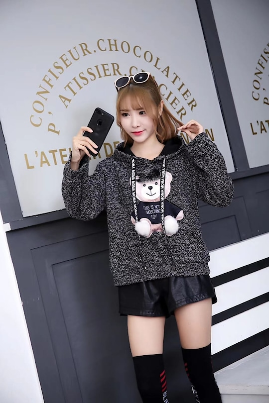 In This Winter Cute Teddy Pullovers  what's app to order 9820408112 pullovers #pulloversweater  #hoodies #wooven #fullsleeves #westernwear #black-and-white #sweater #tshirt #winter-style