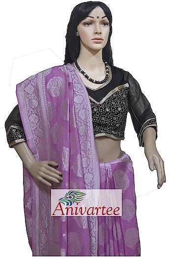 Banaras pure georgette silk  saree  Code: BRS002019 Contact : +91 88612 55270 , 918792177606 Write to: anivartee108@gmail.com Malleshwaram, Bangalore #anivartee #georgettesaree  #banarasisaree #georgette  #handwoven #southindiafashion     #indianwedding   #southindianwedding  #southindianfashion   #100sareepact  #sareesoverseas  #sareesinnewyork   #sareeusa  #sareeuk  #sareeswag handloom #roposo-fashion #telugu-roposo #roposo-telugu #roposo-tamil  #roposo-hindi