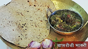 "Enjoy winter special traditional Maharashtrian ""Bajarichi Bhakari"" recipe today.. It's a type of indian flat bread made from bajra flour.. #ropo-love #ropo-good #ropo #roposo #ropo-post #ropo-video #cooking #bajra #maharashtrianfood #sankranti2019 #foodiesofindia #food"