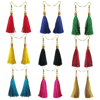 Stylish Small Tassel Earring Combo For Women Rs. 355/- Buy Now : https://goo.gl/JmZop4 GIFT FOR HER - Ideal Valentine, Birthday, Anniversary gift for someone you LOVE. #Buy online Indian Traditional Multicolour Metal Tassel Earrings #Women earring Online #Rudraksha Beads Earring #Buy Women earring Online #Buy Designer Women earring Online #Buy Traditional Girls earring #Buy modern Girls earring #earringsaddict #rudrakshajewellery #earrings gold #jhumka earrings online #earrings artificial #buy fashion earrings online #buy earrings online cheap #jhumka earrings online shopping #artificial earrings online #latest design of gold earrings #gold earring design #malabar gold earrings designs with price #simple gold earrings designs with price #gold earrings with price #gold earring designs images with price