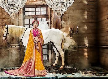 #indianweddingbuzz #indian-festival #women-style #women-fashion #saree #saree-in-new #partywearsaree #weddingfashion   #bordersarees #Weddingwear to know more please whats app on +919820936178
