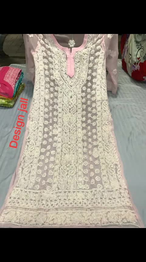 #ssks #₹999WithFreeShipping #chikankari  Georgette jaal kurtis,  sizes 38 to 44,