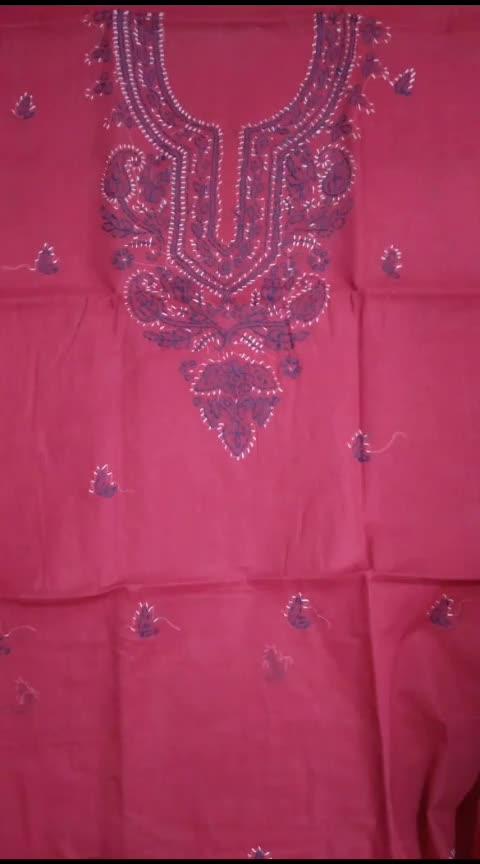 #ssks #999WithFreeShipping#chikankari  Cotton suit piece three piece