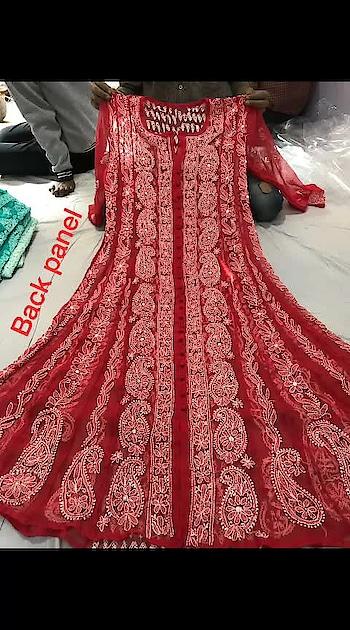 #ssks #₹1699WithFreeShipping #chikankari  Georgette  anarkalis, sizes 38 to 44,