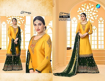 Your Choice Ghunghat 2 Georgette Wedding Collection Suits Price per Piece :- ₹2,295 + ₹115 (GST 5%) Minimum Order  :- 4 Pcs  Top :- Georgette Bottom :- Georgette Dupatta :- Georgette & Soft Net Upcoming Date:-22/01/2019 Product link :- https://castillofab.com/your-choice-ghunghat-2-georgette-bridal-salwar-suits -------------------------------------------------------- Call/whatsapp :- +91 8530 23 23 30 Visit our website :- www.castillofab.com -------------------------------------------------------- #salwarsuits #wholesale #latestsuits #salwarkameez #international #designersalwar #newlaunch #brandedsalwarsuits #suratcollection #indianstyle #weddingwear #bestrate #salwarsuitdesignes #salwarsuitmanufacturer #palazzo #cottonsuits #castillofab