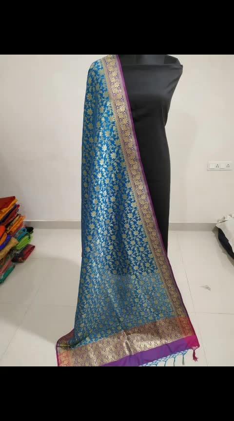 *Banarasi Silk Suit*💃  *Top n Bottom :* Replica Silk (5 mtr)  *Dupatta :* Banarasi Handloom Dupatta💐  *Price* : 1950/-