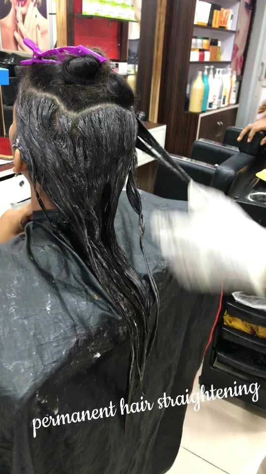 permanent hair straightening with Matrix products  #roposostar #lookgoodfeelgood #beautyblogger
