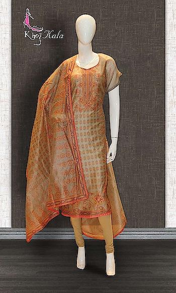 Beige Chanderi Straight Suit http://www.khojkaladesign.com/casual-wear-suits/beige-chanderi-straight-suit-17619.html   SKU: KHOJ0775  ₹2,410  #fashion #women #dupattasuits #instagood #love #womenstyle #salwarkameez #casualselfie #me #like #clothes #beautiful #indianwomenclothing #khojkala #casualsalwarkameez #salwarsuit