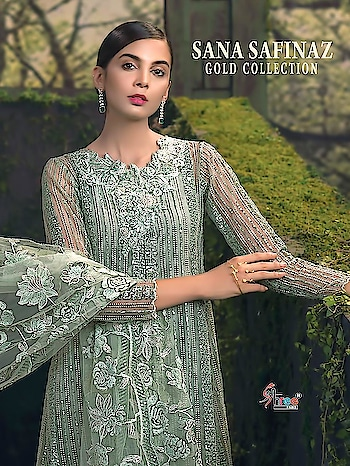 Shree Fabs Sana Safinaz Gold Collection Salwar Suits Online Price per Piece :- ₹1,139 + ₹57 (GST 5%) Minimum Order  :- 4 Pcs  Top :- Heavy net embroidered Bottom :- Santoon Dupatta :- Embroidered net Upcoming Date:-28/01/2019 Discount Applied :- 5% Product link :- https://castillofab.com/shree-sana-safinaz-gold-collection-heavy-embroidered-suits -------------------------------------------------------- Call/whatsapp :- +91 8530 23 23 30 Visit our website :- www.castillofab.com -------------------------------------------------------- #salwarsuits #wholesale #latestsuits #salwarkameez #international #designersalwar #newlaunch #brandedsalwarsuits #suratcollection #indianstyle #weddingwear #bestrate #salwarsuitdesignes #salwarsuitmanufacturer #palazzo #cottonsuits #castillofab
