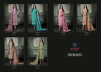 Arihant Rumani Real Georgette Dress Materials Latest Collection Price per Piece :-₹1,395 + ₹70 (GST 5%) Minimum Order :- 6 Pcs  Top :- Real Georgette Bottom :- Dull Santoon Dupatta :- Maslin Digital Print Upcoming Date:-25/01/2019 Product link :- https://castillofab.com/arihant-rumani-pure-georgette-wholesale-dress-material -------------------------------------------------------- Call/whatsapp :- +91 8530 23 23 30 Visit our website :- www.castillofab.com -------------------------------------------------------- #dress #wholesale #latestdress #dressmaterial #international #designerdress #newlaunch #brandeddress #suratcollection #indianstyle #weddingwear #bestrate #dressmaterialdesignes #dressmanufacturer #palazzo #cottondress #pashminadress #wintercollection #castillofab