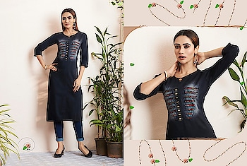 Kajree Shehzaadi Vol 3 Denim Wholesale Kurtis Catalog Price Per Piece :- ₹599 + ₹30 (GST 5%) Minimum Order :- 9 Pcs. Fabric :- Rayon Flax Size :- M(38), L(40), XL(42), XXL(44) Upcoming Date:-28/01/2019 Product link :- https://castillofab.com/kajree-shehzaadi-vol-3-denim-with-embroidery-work-kurtis ———————————————————————————— Call/whatsapp :- +91 8530 23 23 30 Visit site for products :- https://castillofab.com——————————————————————————— #kurti #wholesalekurti #kurtidesign #womenkurti #kurta #newkurtidesign #kurtisonline #partywearkurtis #rayonkurti #latestkurti #brandedkurtis #kurtiwholesalesupplier #kurtiexporter #suratkurtis #IndianKurtis #castillofab
