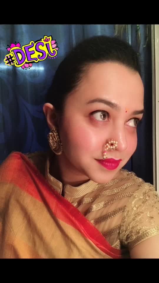 #weddinglookbook #weddingseason #saree #marathilook #naths #mattelipstick #glow #ethniclove #roposofashionblogger #soroposo @soropso #desi
