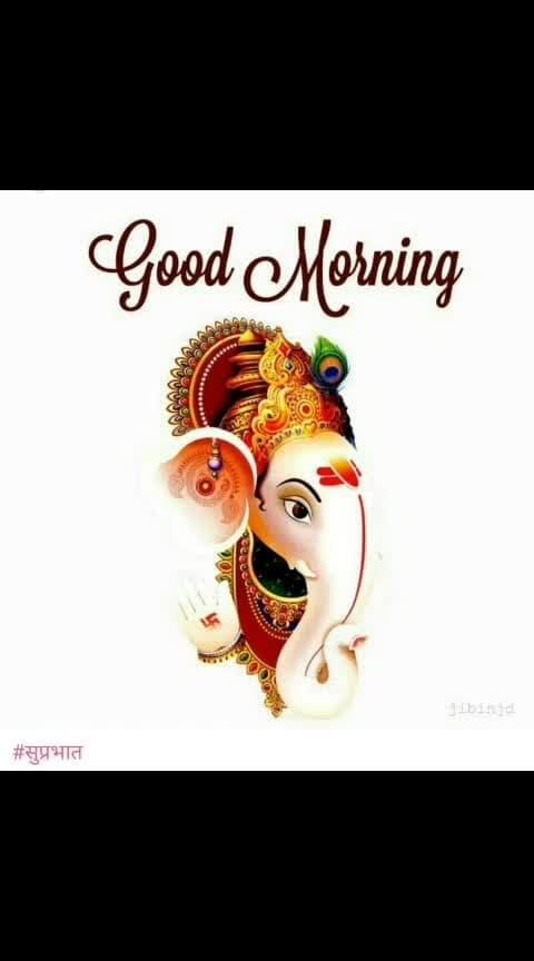Good Morning People! #goodmorningpost #dailywishes #dailywisheschannel #lordganesha #bhakti-tv #goodmorningroposo