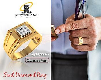 #Saul #Gents #Diamond #Ring in #18KGold in Elegant #Design. Visit - http://bit.ly/2S1CIwJ  #Jewelslane #jewellerywithgems #shopjewellery #onlinejewellery #bracelets #ompendant #aumbracelet #healingbracelets #contemporaryjewellery #jewelleryformen #handmadejewellery