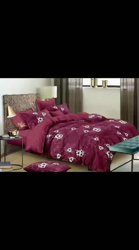 King size comfortorset 1 bedsheet 2 pillow covers 1 comfortor Fabric - glace cotton Size - 108x108 Price - 2150+$