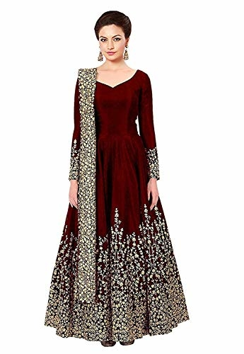 Varudi #Fashion Women Embroidered Semi Stitched #Anarkali #Gown @ Rs.599. Buy Now at http://bit.ly/2sHwxj4
