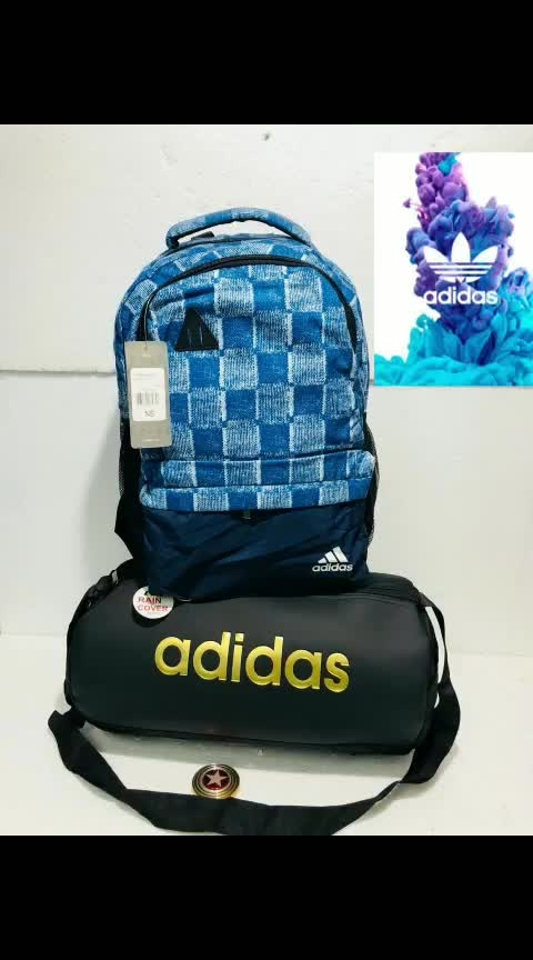👉🔴    ADIDAS BAGPACK   COMBO 2 IN ONE 👉ADIDAS gymbag 👉_🔵BEST QUALITY BAGS_*  👉🔴WATER BOTTLE SLOT GIVEN_* 👉_⛔LAPTOP COMPARTMENT GIVEN_* 👉_🔵SIZE 18  BY 12 INCHE_* 👉_🔴SIZE 17BY 10  👉⚽Water-proof *_⚫BEST MATERIAL USED_* 💁🏻♂🔵@₹₹ *850+80*💫💫💫  #creativespace #rx100 #partystarter #thehappyone #weekend #thecomedian #drama #romantic #natural #super #filmistaanchannel #loveness #song #bff #indianwear #photography #telugu #kannada #rainbow #aboutlastnight #sadness_overloaded  #letsnaacho #shaadiseason #food #share #girls #happyvibes #rocknroll #eating #tvbypeople