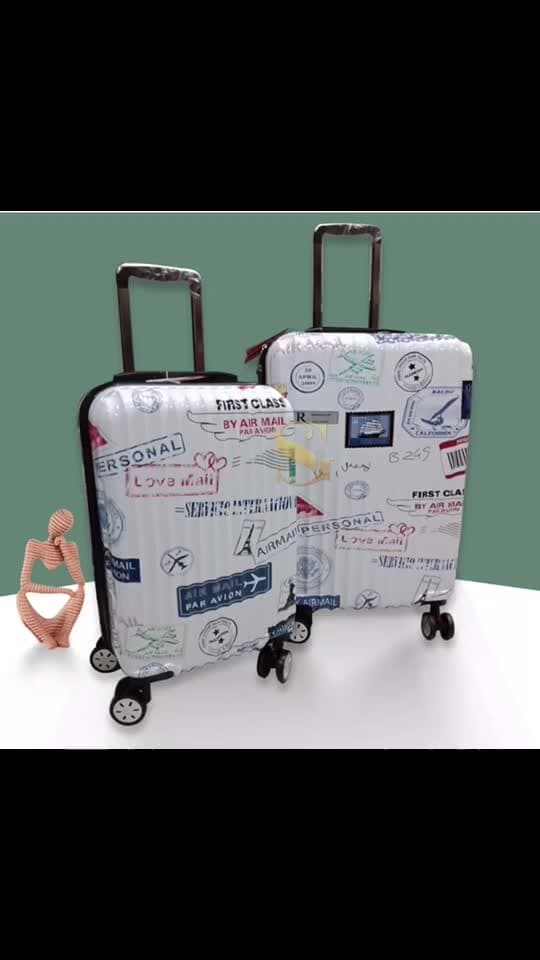 *Closing. Stock.  Hurry. Up** 🔵**LUGGAGE. BAG ** **COMBO OF 2** **🛑 24 inch & 20 inch ** ** PATTERN: PRINT** **IDEAL FOR : ALL GENDER** **NO.WHEEL : 4  Locking system ** **MATERIAL:     POLYCARBONATE ** **WATER RESISTANT ** **BODY TYPE : HARD BODY* ** CAPACITY**:    24 inch :  64 L    20 inch  : 36 L ( Cabinet bag) **WEIGHT**(without.packing)     24 inch : 4100 g      20 inch : 3100 g **3 LEVEL OF ADJUSTMENT IN PULLING ROD**   🛑**FOR : ₹ 6999/-** 🔵**SHIPPING APPLICABLE **...a