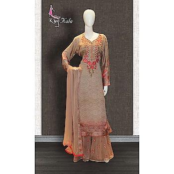 Beige Crepe Sharara Suit http://www.khojkaladesign.com/sharara/beige-crepe-sharara-suit.html  SKU: KHOJ9142 ₹5,513  #fashion #women #dupattasuits #instagood #love #womenstyle   #salwarkameez #casualselfie #me #like #clothes #beautiful   #indianwomenclothing #khojkala #casualsalwarkameez   #salwarsuit