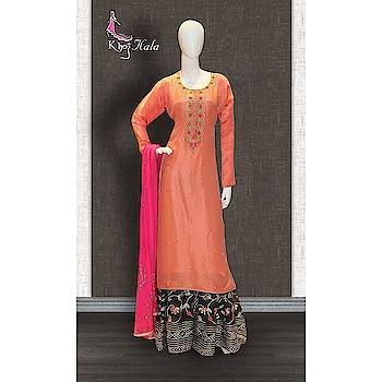 Orange Uppada Sharara Suit http://www.khojkaladesign.com/sharara/orange-uppada-sharara-suit-17632.html  SKU: KHOJ2815 ₹5,823  #fashion #women #dupattasuits #instagood #love #womenstyle   #salwarkameez #casualselfie #me #like #clothes #beautiful   #indianwomenclothing #khojkala #casualsalwarkameez   #salwarsuit