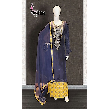 Blue Uppada Sharara Suit http://www.khojkaladesign.com/sharara/blue-uppada-sharara-suit-17631.html  SKU: KHOJ2813 ₹3,145   #fashion #women #dupattasuits #instagood #love #womenstyle   #salwarkameez #casualselfie #me #like #clothes #beautiful   #indianwomenclothing #khojkala #casualsalwarkameez   #salwarsuit